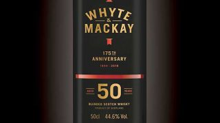 Whyte & Mackay 50 year old whisky