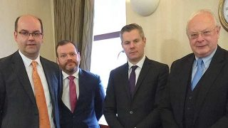 David Lonsdale (SRC), Stuart Mackinnon (FSB), Finance Secretary Derek Mackay and Willie Macleod (UKH)