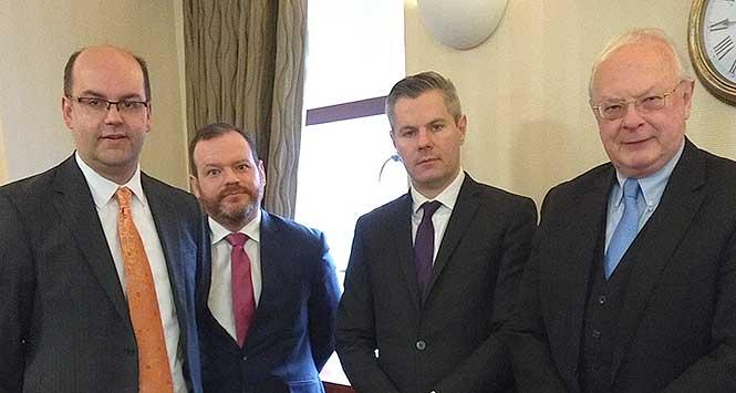 David Lonsdale (SRC), Stuart Mackinnon (FSB), Finance Secretary Derek Mackay and Willie Macleod (UKH)