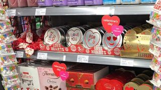 Nisa Valentine's Day aisle-end display