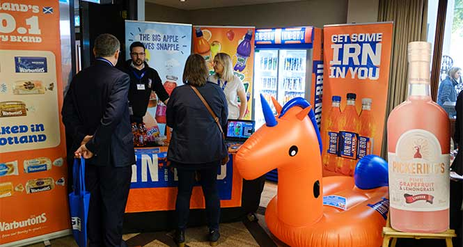 Irn Bru exhibition stand