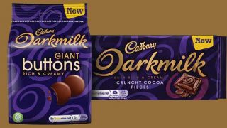 Cadbury Darkmilk Giant Buttons and Cadbury Darkmilk with Crunchy Cocoa Pieces