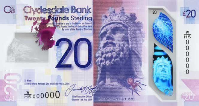 Clydesdale Bank £20 note