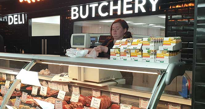 butcher's counter