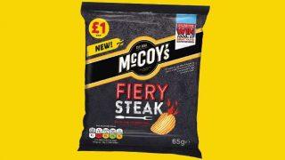 McCoy's Fiery Steak crisps