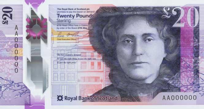 Royal Bank of Scotland £20 note