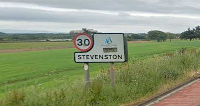Stevenston sign post