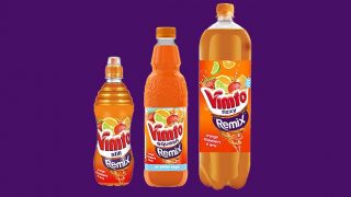 Vimto Remix Orange, Strawberry and Lime pack formats