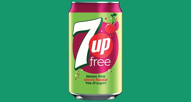 7UP Free cherry can