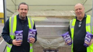 Truck full of Cadbury Heroes
