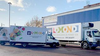 Lomond - the Wholesale Food Co lorries