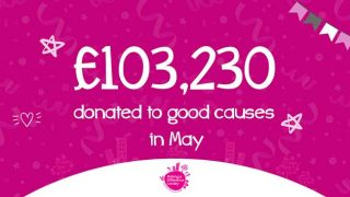 £103,230 donated to good causes in May