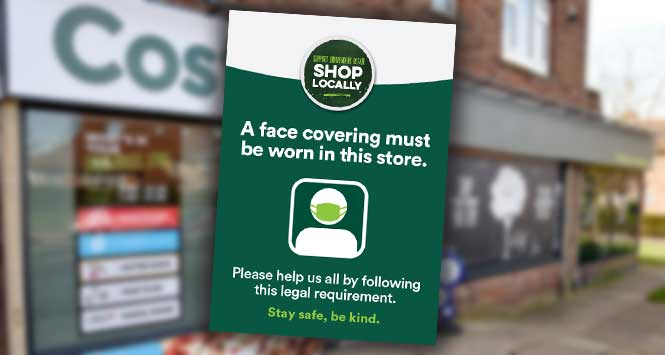 costcutter face covering poster