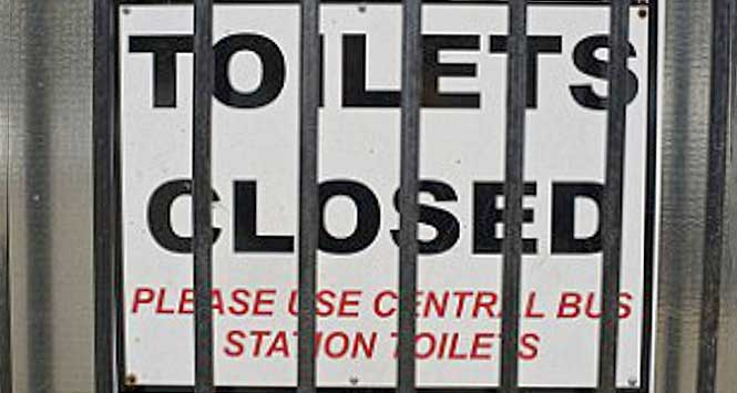 Toilet Closed sign
