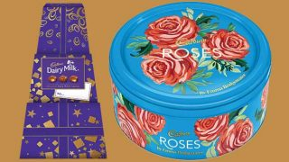 Cadbury Roses by Emma Bridgewater and Dairy Milk Chunk gift box