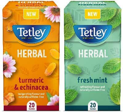 Tetley herbal teas