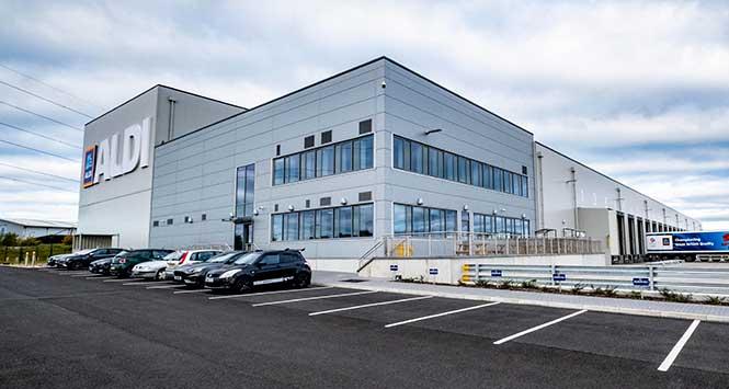Aldi's Bathgate warehouse