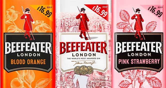 Beefeater price-marked packs