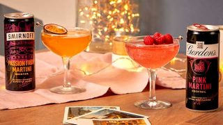 Gordon's Pink Martini and Smirnoff Passion Fruit Martini