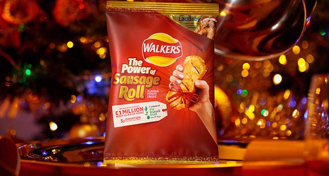 Walkers sausage roll flavoured crisps