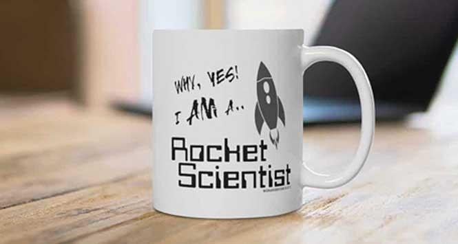 'I am a rocket scientist' mug