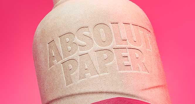 Absolut's paper bottle