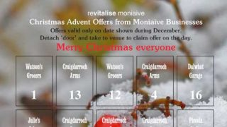 Moniave local businesses' advent calendar