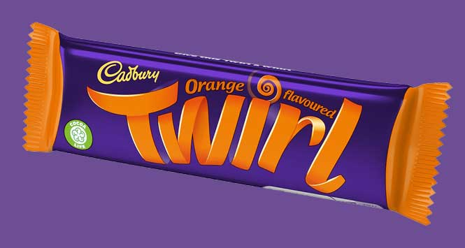 Cadbury Twirl Orange