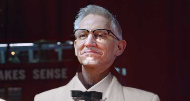 Gary Lineker as Colonel Sanders