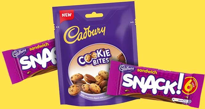 Cadbury Sandwich Snack and Cadbury Cookie Bites