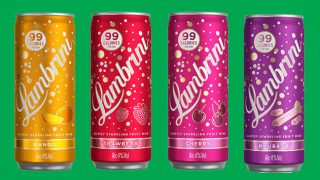 Lambrini ready to drink can range