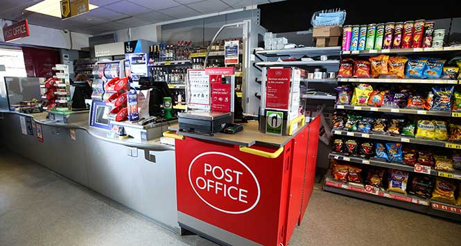Post Office counter in convenience store