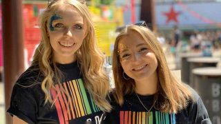 Smiling girls at Barcode Festival