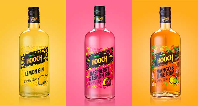 Hooch spirits range
