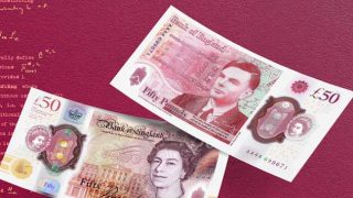 Alan Turing fifty pound notes