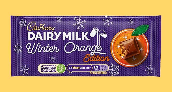 Cadbury Dairy Milk Winter Orange
