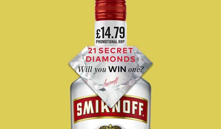 Smirnoff secret diamonds promotional bottle
