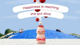 """Yakult: """"Happiness is reaching the gut alive"""""""