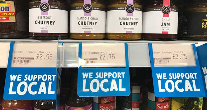'We support local' price tags