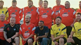 Ashley Cole with Denny Warriors